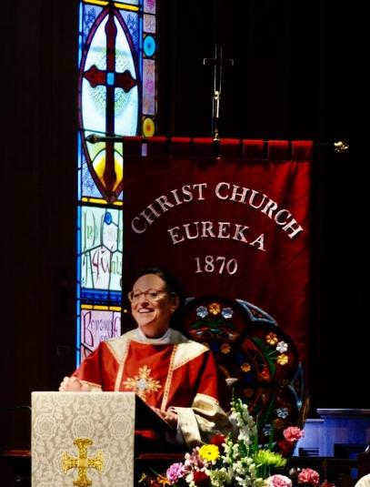 Bishop Megan at Christ Church Eureka
